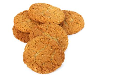 anzac: Anzac biscuits - an Australian icon, made from rolled oats and coconut. Stock Photo