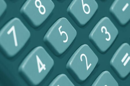 teclado num�rico: Macro de teclado num�rico, en tono cian.  Foto de archivo