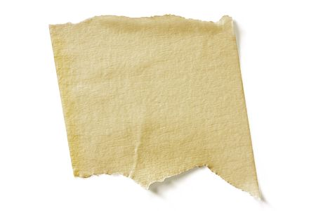 masking tape: Textured torn masking tape, casting natural shadow on white surface.  Clipping path included. Stock Photo
