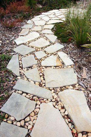 Cobblestone and Pebble Pathway Stock Photo - 3737634