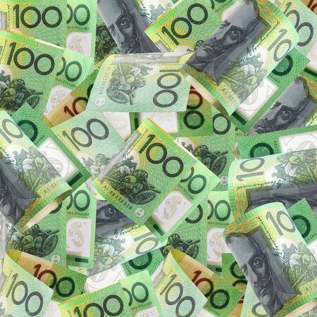 Background of Australian one hundred dollar bills.