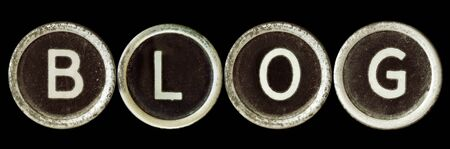 Blog spelled in vintage typewriter keys Stock Photo