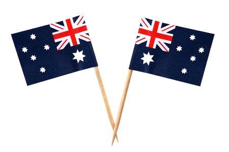 Australian flags on toothpicks, isolated on white. Stock Photo - 4597169