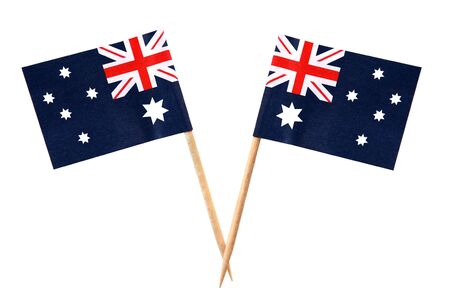 Australian flags on toothpicks, isolated on white. Stock Photo - 4597169