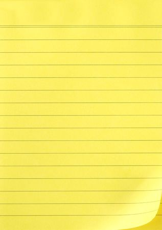 Lined yellow paper
