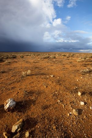 broken hill: Storm brewing in the Australian outback.  Western New South Wales. Stock Photo