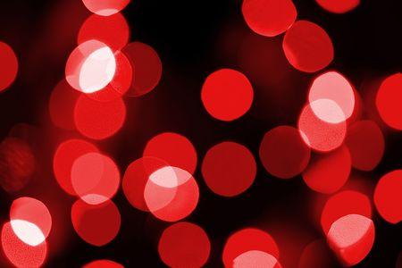 defocussed: Red lights, defocussed over black.