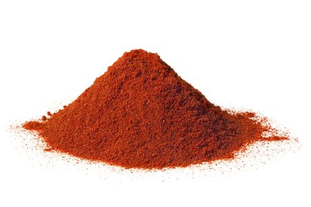 Heap of brilliant red sweet paprika, isolated on white. Stock Photo - 5514731