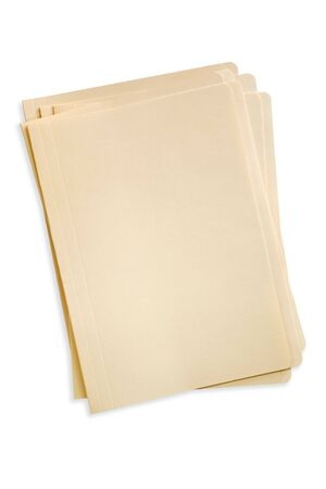 stack of files: Stack of manilla file folders Stock Photo