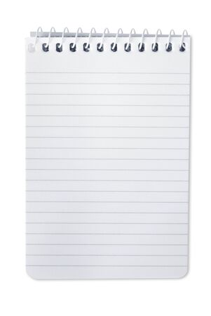 Small spiral notebook, isolated on white. Stock Photo - 6054543