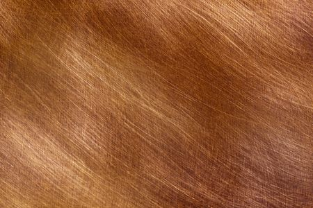 Background of brushed copper, in full-frame.  Lovely textures and detail. Stock Photo - 6054633