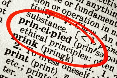 principled: Dictionary definition of the word
