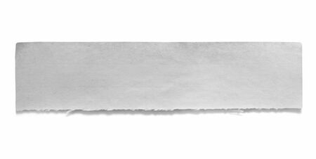 copyspace: Ripped piece of old notepaper, isolated on white.  Lots of copy-space for your message. Stock Photo