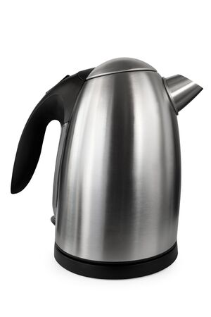 Electric kettle, isolated on white.    photo
