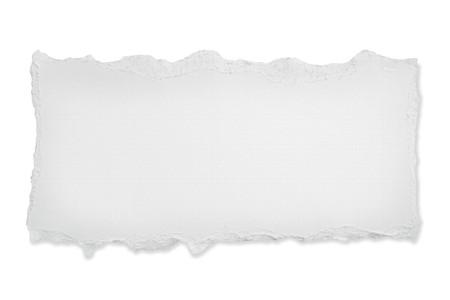 gescheurd papier: Gescheurde blanco papier