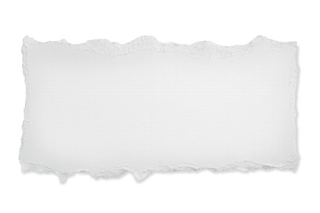 blank papers: Torn blank paper