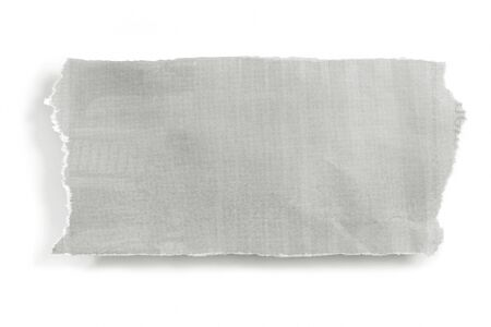 ripping: Piece of torn newspaper, isolated on white with soft shadow.  Lots of copy-space.