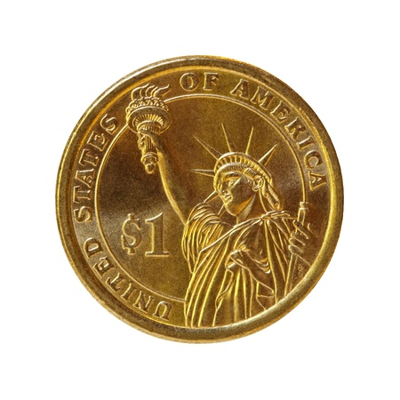 one dollar: American one dollar coin Stock Photo