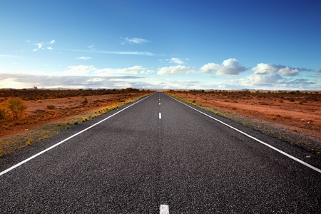 Highway in the Australian Outback. Western New South Wales.