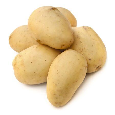 Potatoes over white background. photo