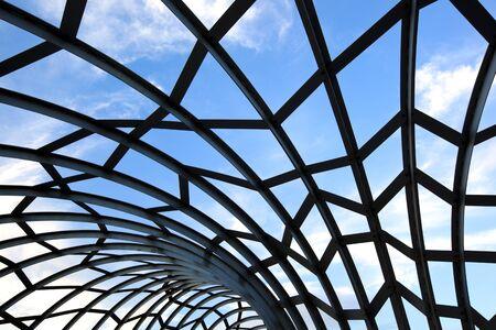 webb: Detail of metal lattice work on Webb Bridge, Melbourne, Australia.  Beautiful sculptural effects. Stock Photo