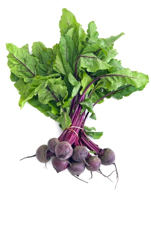 beets: Bunch of fresh, healthy beetroot, isolated on white.