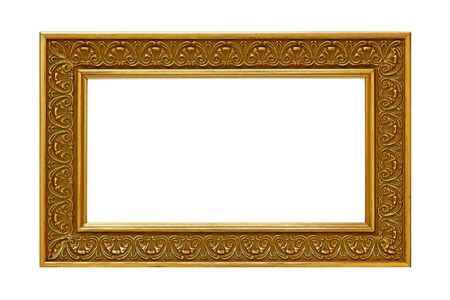 Gold plated wooden photo frame.  Sized for panoramic print. photo