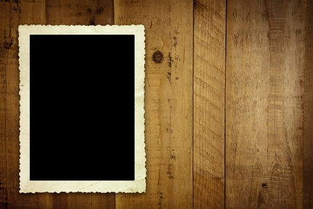 Vintage photo on old timber background. Stock Photo - 11932736