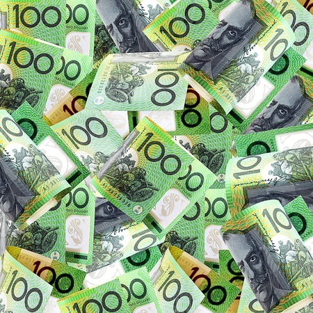australian: Background of Australian one hundred dollar bills  Stock Photo