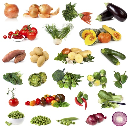 sweet sugar snap: Collection of vegetable images, isolated on white  Stock Photo