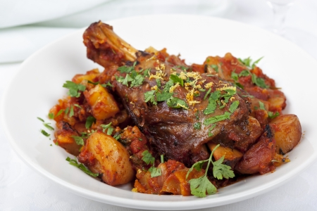 lamb chop: Lamb shank casserole, with parsley and lemon