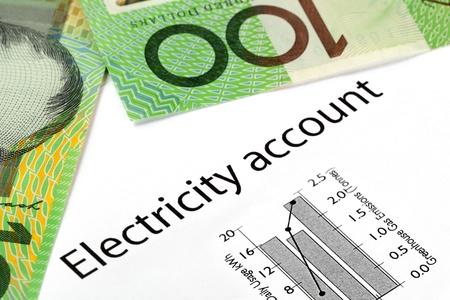 electricidad: Electricidad cuenta que muestre el uso cada vez mayor y las emisiones de gases de efecto invernadero, con el australiano cien billetes de d�lar