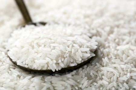 spoonful: Spoonful of white rice.