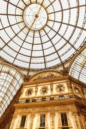 vittorio emanuele: Emanuele Vittorio II Galleria in Milan, Italy.  Luxury shopping.