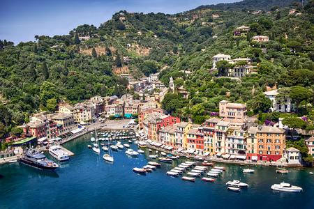 Portofino Hafen, an der italienischen Riviera in der Nähe von Genua Lizenzfreie Bilder