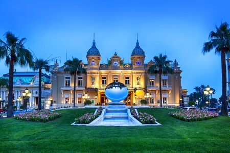 Grand Casino in Monte Carlo, Monaco. 報道画像