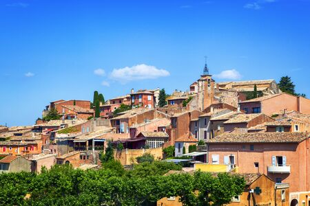 roussillon: Ancient village of Roussillon in Provence, France. Stock Photo