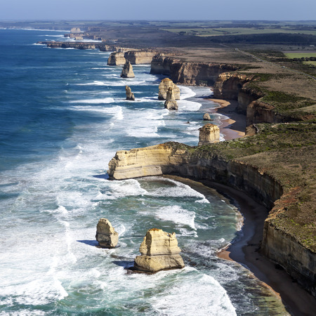 Twelve Apostles, Victoria, Australia, viewed from the air. Imagens - 48070128