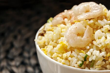 taiwanese: Shrimp fried rice, Taiwanese style. Stock Photo