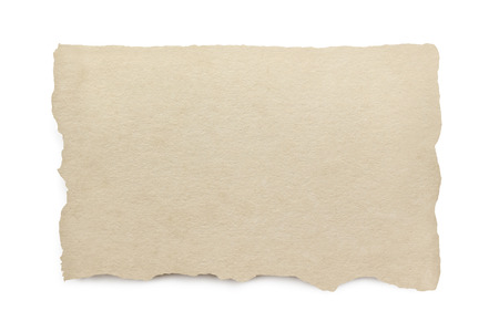 Torn paper with clipping path.  isolated on white with soft shadow. Archivio Fotografico