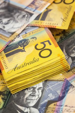 australian money: Australian money background.  Fifty dollar notes.