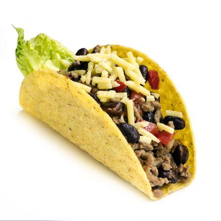 Taco isolated on white background. Stock Photo