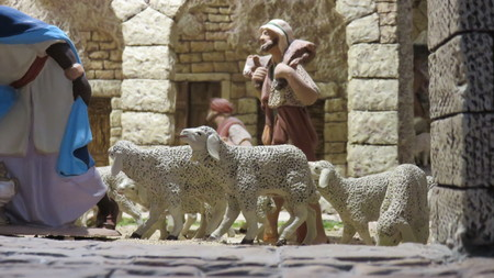figurines: of handmade terracotta figurines Stock Photo