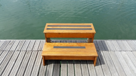 stool: stool to climb into the boat
