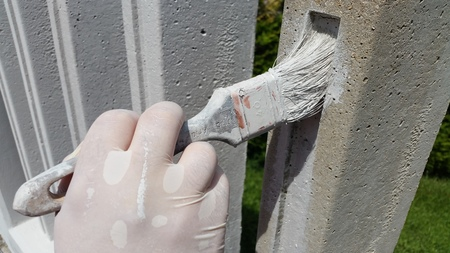 painting the fence