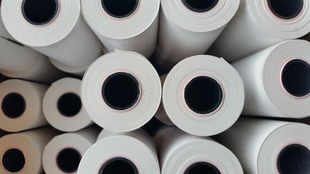 Thermal paper rolls Foto de archivo