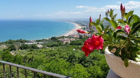 viewpoint: viewpoint of Vasto, Abruzzo Stock Photo