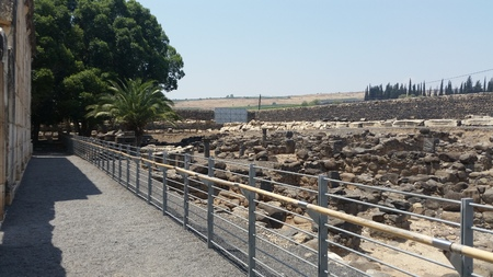 archaeological: Capernaum Israel archaeological site Stock Photo