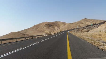 negev: road in the desert of the Negev