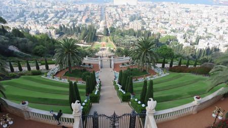 bahai: Bahai garden in Haifa, israel